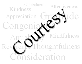 Twelve Rules Of Courtesy